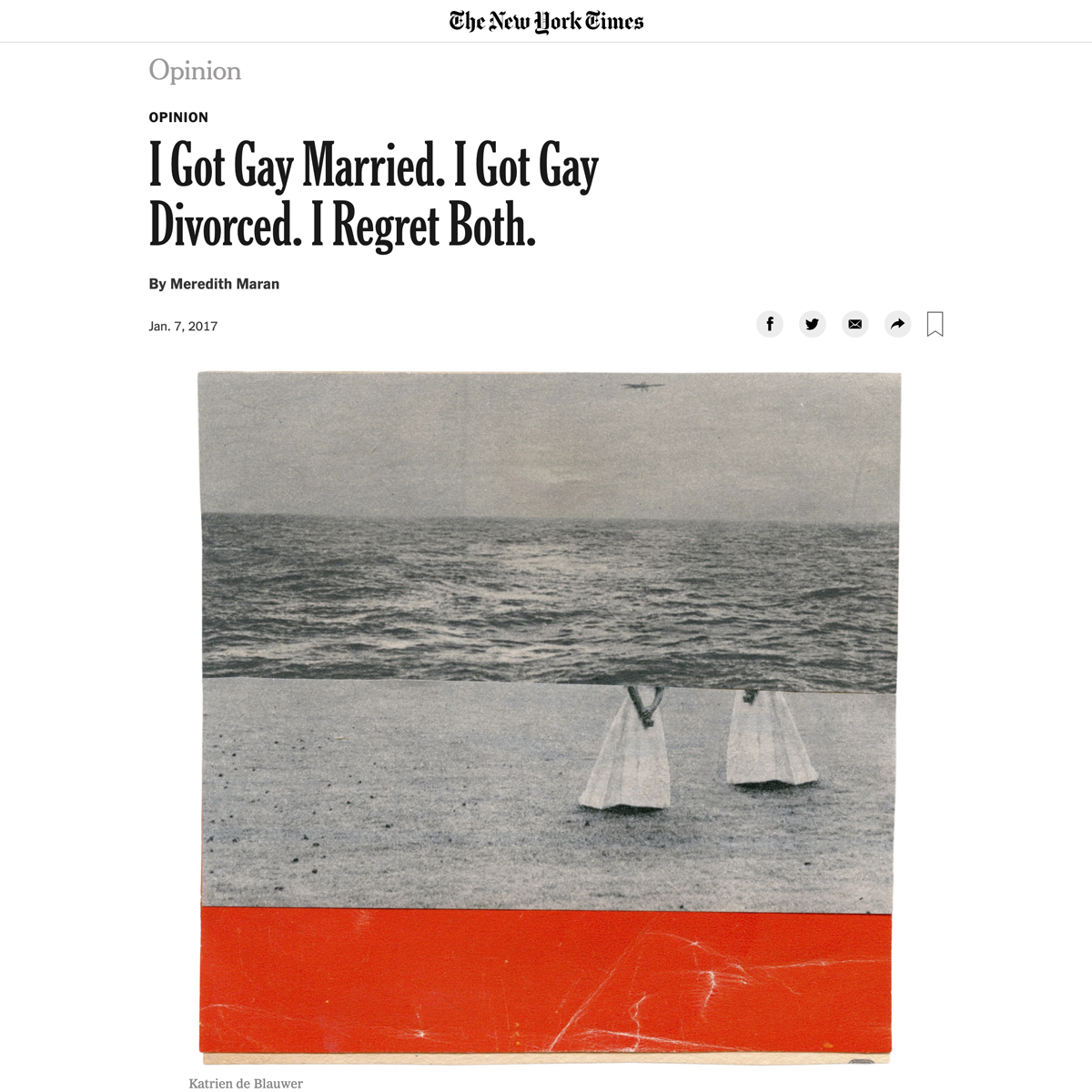 The New York Times Opinion - Gay Marriage