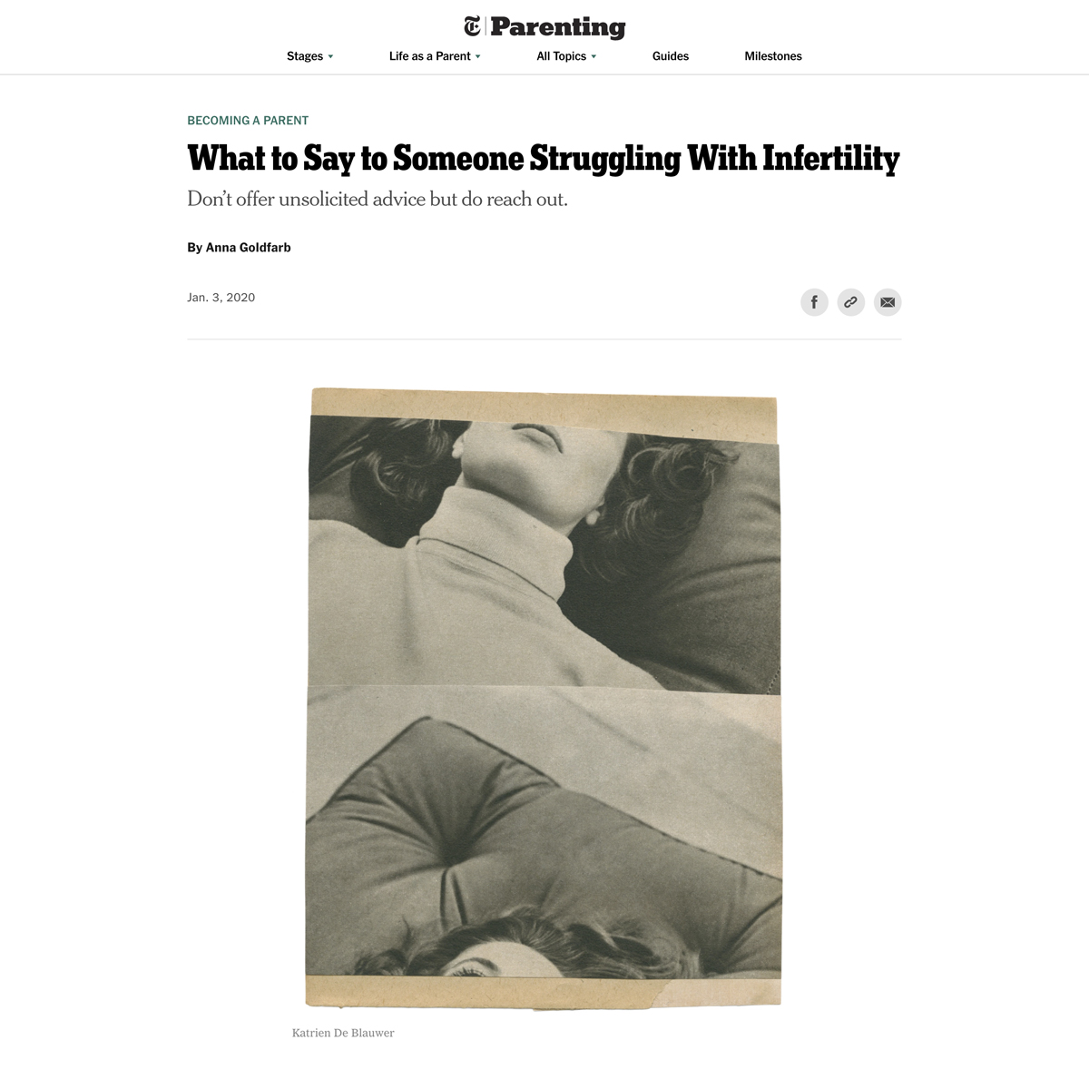 The New York Times Parenting - Infertility